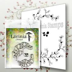 Lavinia Stamps Berry Wreath with Mini Berries Inka Gold, Polymer Resin, Tampons Transparents, Lavinia Stamps, Resin Uses, Berry Wreath, White Gel Pen, Scrapbooking, Little Unicorn