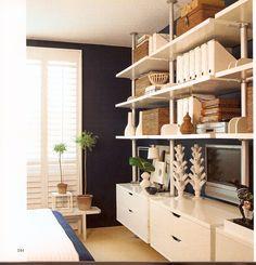 IKEA Stolmen ?  love the navy - white contrast