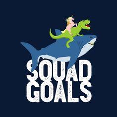 33d685cf Squad Goals Sloth Shark Unicorn Rex Men's T-Shirt by Emodistcreates - Cloud  City 7