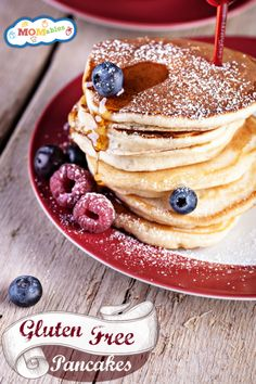 Paleo Gluten Free Pancakes Recipe - great recipe used a smashed banana instead of applesauce, and didn't add the maple syrup.. really good