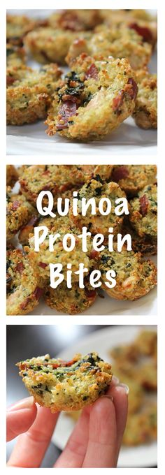 Savory, healthy, full of protein, allergy friendly! Nut free, dairy free, gluten free quinoa bites!