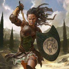Guerreiro humano mulher