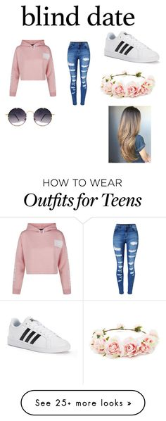 """cute date outfit"" by titlewave500 on Polyvore featuring New Look, WithChic, adidas, Spitfire and Forever 21"
