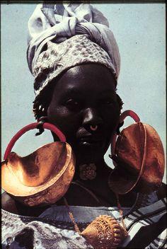 Woman w/ Fulani Earrings