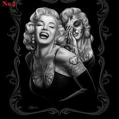 Art Marilyn Monroe Smile Now Skull Tattoo Mink Blanket Queen Poster 910 Marilyn Monroe Tattoo, Marilyn Monroe Kunst, Marilyn Monroe Wallpaper, Marylin Monroe, Marilyn Monroe Wall Art, Queen Size Blanket, Queen Poster, Chicano Art, Cholo Art