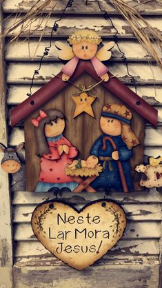 Christmas Nativity, Christmas Cross, Christmas Time, Christmas Ornaments, Tole Painting, Painting On Wood, Foam Crafts, Diy And Crafts, Pintura Country