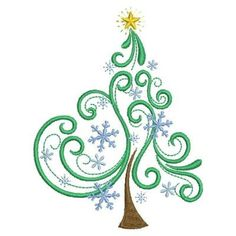 embroidery designs in machine Hand Embroidery Patterns Free, Embroidery Flowers Pattern, Machine Embroidery Applique, Free Machine Embroidery Designs, Christmas Tree Embroidery Design, Sewing Machine Projects, Couture, Quilting Designs, Christmas Trees
