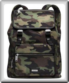 Michael+Kors+Men's+Army+Camo+Backpack