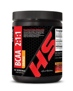 BCAA 2:1:1 Dietary Supplement 380g Orange - Helps In The Retention (1 Can) #HealthSolution