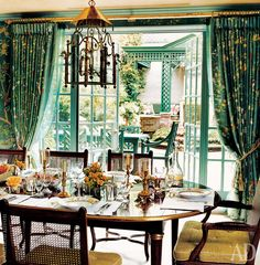 Charlotte Moss.  Photo by Simon Upton.  Architectural Digest, March 2005.