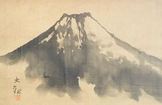 Mt. Fuji by Yokoyama Taikan (Japanese Scroll)