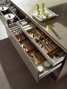 Everyone needs a double tier utility drawer in the kitchen.