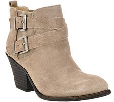 Sole Society Leather Ankle Boots with Buckle Detail size 9.5.  - Maris - A259492 — QVC.com
