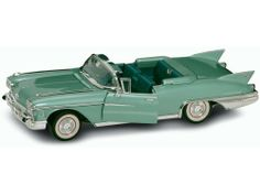 "Yat Ming Scale 1:18 - 1958 Cadillac Eldorado Biarritz by Yat Ming. $34.99. From the Manufacturer                1958 Cadillac Eldorado Biarritz Convertible. 1:18 scale diecast collectible model car. This Cadillac Eldorado Biarritz is a 12""Lx 4.5""Wx 2.75""H die cast metal car with openable doors, hood and trunk. This Cadillac Eldorado Biarritz is manufactured by Yat Ming. Individually packed in a window box.                                    Product Description             ..."