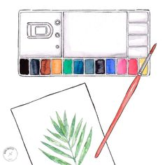 Good objects - Painting a lot of leaves, and planning the workshops. Graphic Design Illustration, Watercolor Illustration, Principles Of Art, Aesthetic Pastel Wallpaper, Cool Words, Workshop, Objects, Clip Art, Leaves
