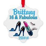 16TH PRIMA DONNA Snowflake Ornament http://www.cafepress.com/jlporiginals/10216596 #16thbirthday #16yearsold #Happy16thbirthday #16thbirthdaygift #16thbirthdayideas #Sweet16 #Personalized16th #16thornament
