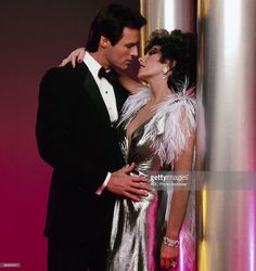 DYNASTY (ABC-TV) - Joan Collins & Michael Nader - Episode aired January 16, 1985. - Photo by ABC Photo Archives/ABC.