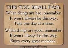This shall pass