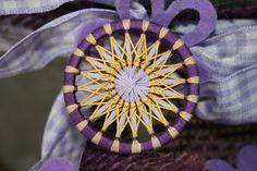 Zwirnknopf Frühling dreifärbig 22 x 27 x 1,5 mm