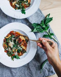 tomato gnocchi stew with greens // brooklyn supper
