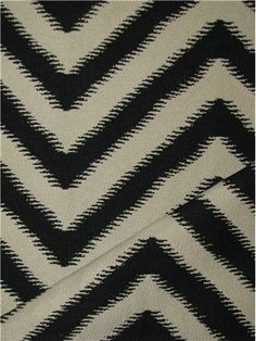 """Belle Terre Carbon Nate Berkus Fabric, Jacquard chevron fabric, durable 100% poly, 30,000 double rubs. Perfect for upholstery fabric, drapery fabric, pillow covers or top of the bed. Repeat; V 4"""" x H 14.5"""". 58"""" wide"""