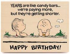 Linus/Charlie Brown Happy Birthday rubber stamp.