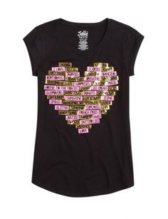 justice Heart Graphic Long Tee