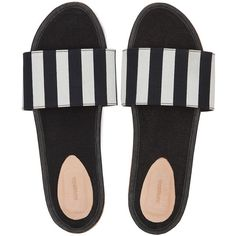 BALI Suede slides Black White (11.315 RUB) ❤ liked on Polyvore featuring shoes, suede leather shoes, black white shoes, suede shoes, white black shoes and white and black shoes