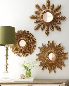I have an addiction to mirrors... Love the grouping, then you can have more than one!