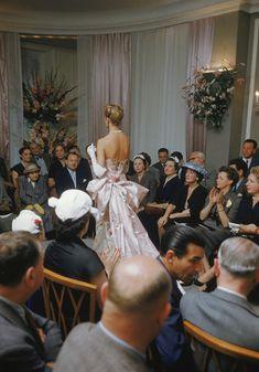 Pierre Balmain couture show Paris 1954 Mark Shaw