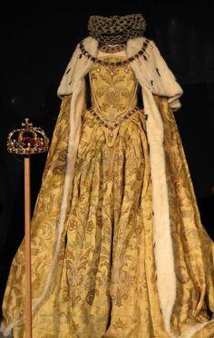 The actual coronation gown of Queen Elizabeth I