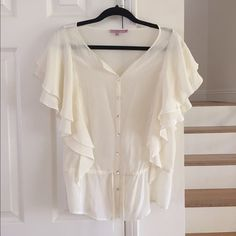 Calypso Silk Ivory blouse. Excellent condition 100% silk. Classic blouse Calypso St. Barth Tops Blouses