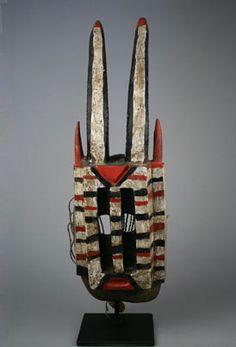 Africa | Antelope mask 'Walu' from the Dogon people of Mali | Wood, paint and fiber. Arte Tribal, Tribal Art, Cultural Artifact, African Masks, African Art, Masks Art, Dogon, West Africa, Headgear
