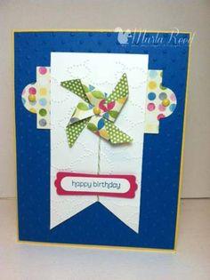 Birthday Pinwheel- FabFri13 by MarlaR - Cards and Paper Crafts at Splitcoaststampers
