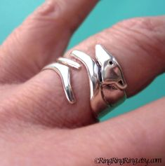 100% Solid .925 Sterling Silver. Simple beautiful Greyhound Dog ring with adjustable body wraps around your finger. Unique handmade jewelry by
