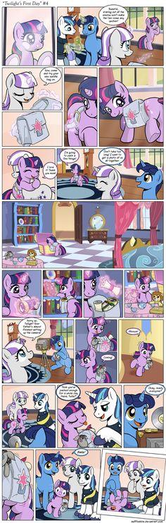 Comic - Twilight's First Day #4 by muffinshire.deviantart.com on @deviantART