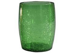 Verre à eau ou à whisky vert en verre soufflé 3