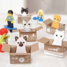 Mini Kitty Box House Sticky Note