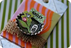 Gift Wrapping Idea — Make Magnet Gift Tags!!