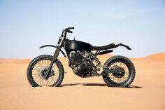 This custom Yamaha XT 600 is a true modern-day desert sled: it was built to follow a Dutch rally team around Morocco.