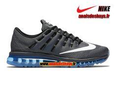 Boutique Officiel Nike Air Max 2016 - De Running Homme Gris foncé/Bleu photo/Noir/Blanc 806771-002