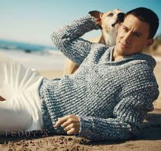 Channing Tatum & his rescued pit bull Lulu....I officially love him now!