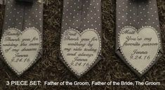 Groom  Brides Father  Grooms Father  by VictoriaLynnBoutique