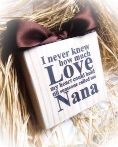 Nana Sign  Wood Block  Love Nana  Mimi Gigi Meme by DesignsBySyds