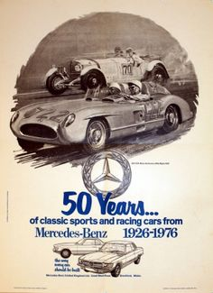 Mercedes Benz, 1976 - original vintage poster listed on AntikBar.co.uk