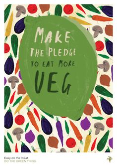 Make The Pledge by Nikki Miles With this playful painting, illustrator Nikki Miles is urging us to make a pinky promise to go easy on the meat and its carbon consequences and enjoy some veg. Food Illustrations, Illustration Art, Textiles, Fruit And Veg, Brighten Your Day, Hand Lettering, Graphic Design, Drawings, Creative