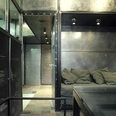 Apartment in Moscow by Peter Kostelov...maybe a little too industrial?