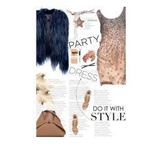 """""""Perfect Party Dress"""" by amimcqueen ❤ liked on Polyvore featuring Alberta Ferretti, Bobbi Brown Cosmetics, IRFE, Schutz, Akris and Chanel"""