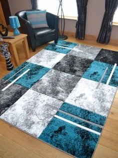 The purple marble area rugs are ideal for modern living areas. With a non shed, stain resistant pile, they are the perfect addition to any home. Living Room Decor Grey And White, Teal Living Rooms, Living Room Carpet, Rugs In Living Room, Living Spaces, Diy Carpet, Rugs On Carpet, Teal Rug, Purple Rugs