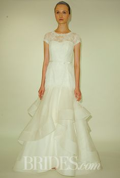 Ruffles Work For Older Brides Too: Wedding Gowns that WOW! #secondwedding #dresses #ruffles